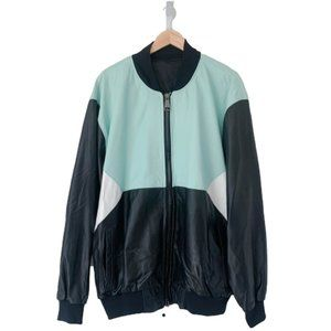 Custom Color Block Leather Jacket